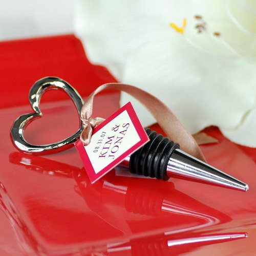 Wedding Favours / Favors: Open Heart Wine Bottle Stoppers
