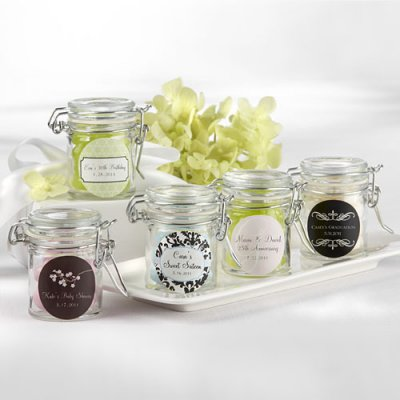 Wedding Favours / Favors - Personalised Glass Favour Jars