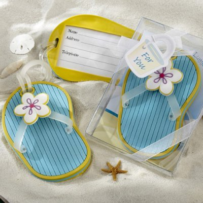 Wedding Favours / Favors - Flip Flop Luggage Tag