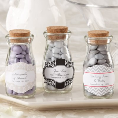 Wedding Favours / Favors - Personalized Vintage Milk Favour Jars