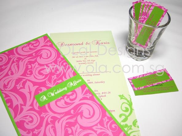 custom wedding invitation ola designs singapore