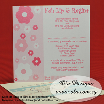 Pink Floral Wedding Invitation