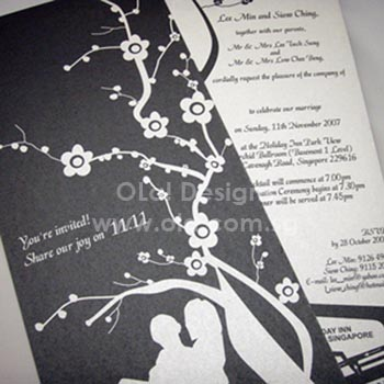 Silver Pearl Wedding Invitation