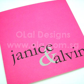Pink Custom Wedding Invitation
