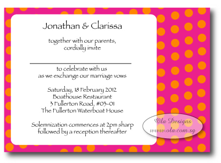 Wedding invitation archives ola designs cheerful dots invitation stopboris Choice Image